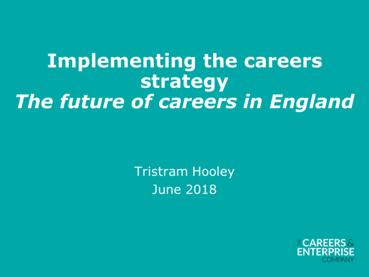 Implementing the careers strategy